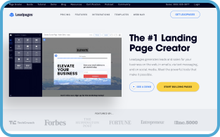 LeadPages Webpage Screenshot