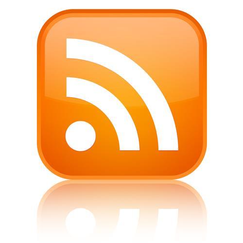 Orange RSS square symbol