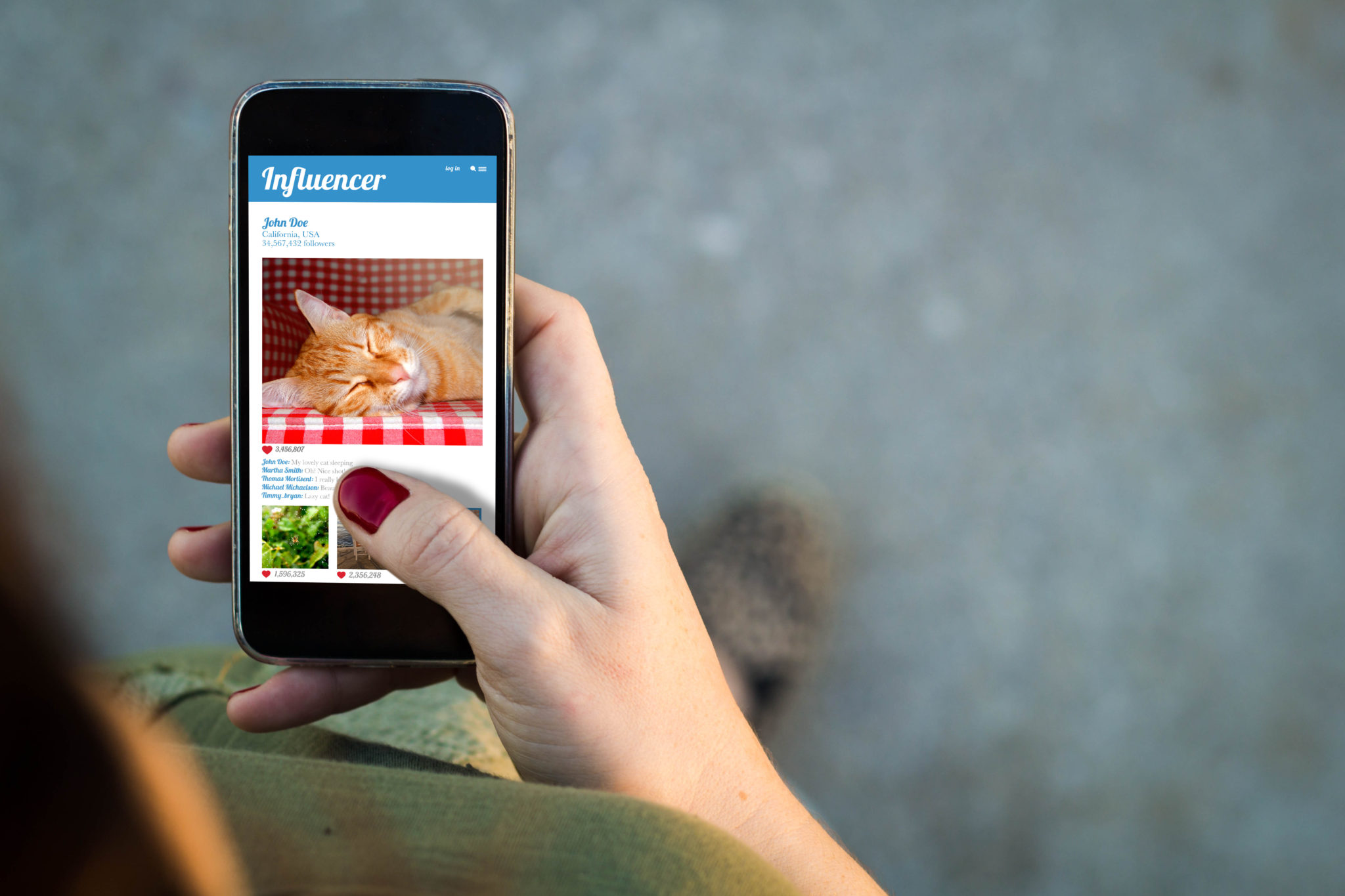 Influence Marketer Using Smart Phone