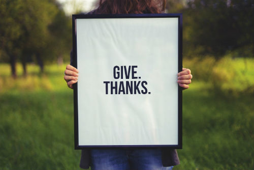give thanks to show customer appreciation