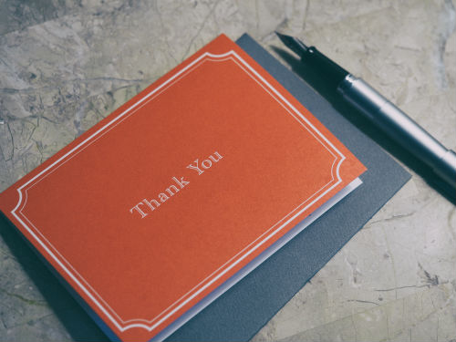 show customer appreciation with a thank you card